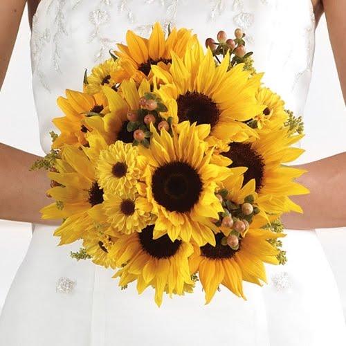 Bouquet bridal sunflower bouquets