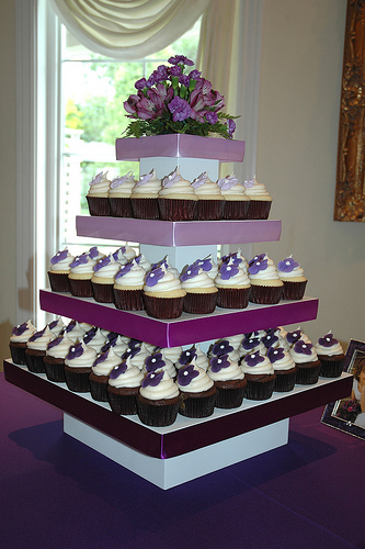 Purple Wedding Theme Cupcake Decorating Ideas