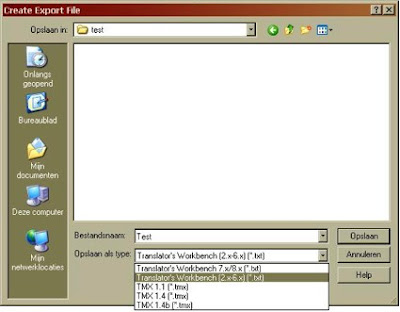 Create Export file