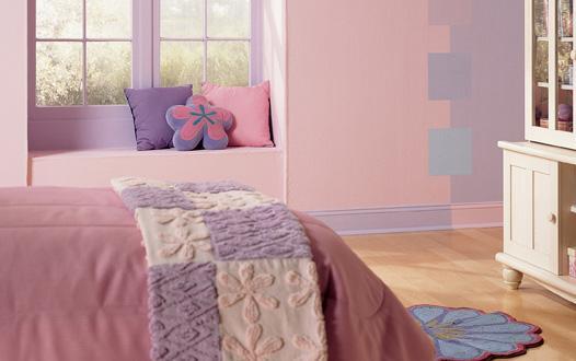 Покраска стен двумя цветами фото