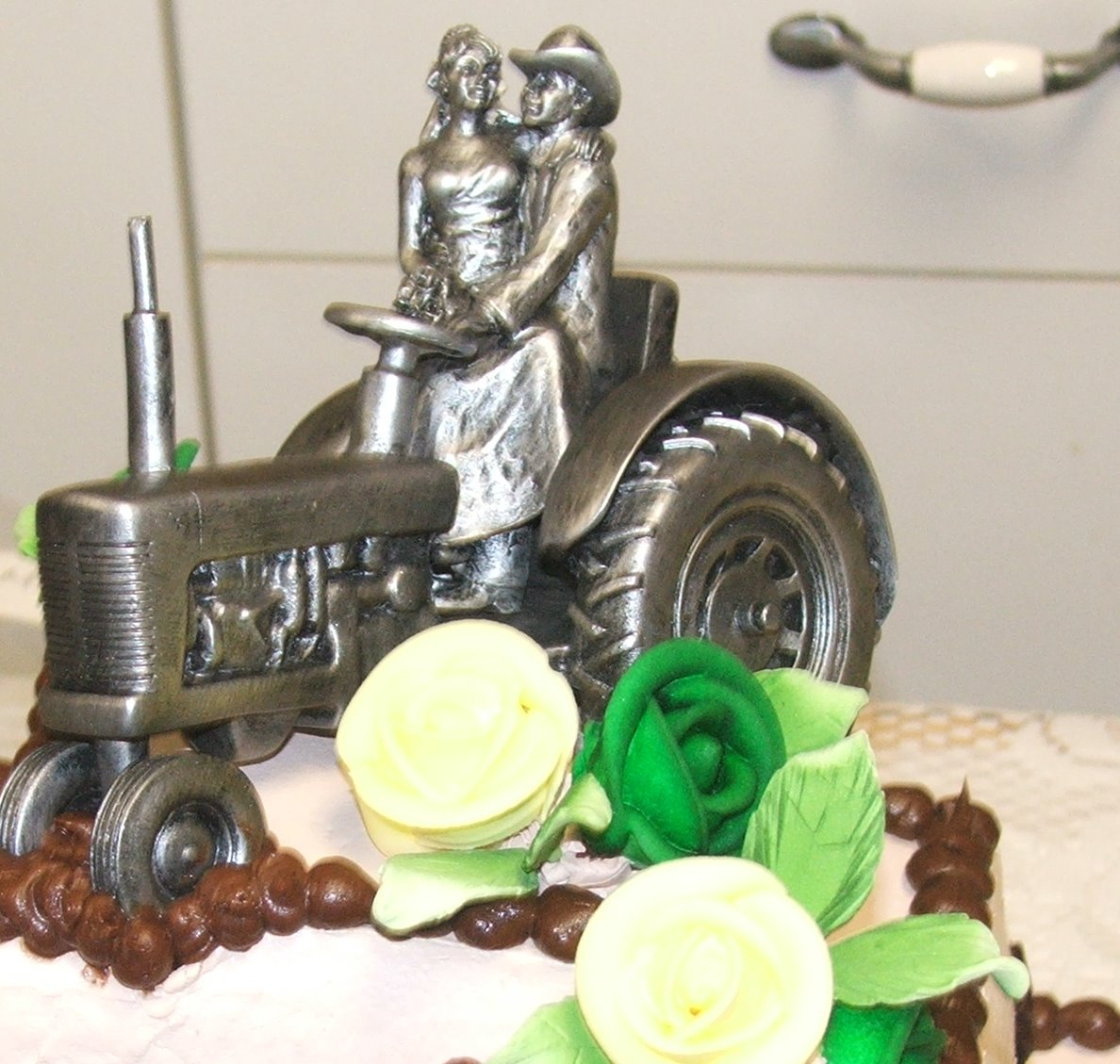 Tractor Wedding Cake Toppers