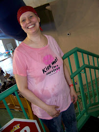 Some kid thought it would be funny to soak the cancer chick at Splash Bay Resort!