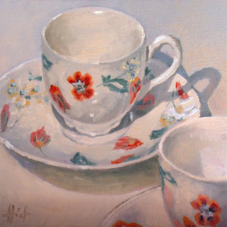 English Teacups by Liza Hirst