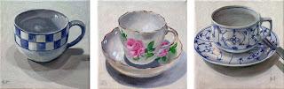 Three cups by Liza Hirst