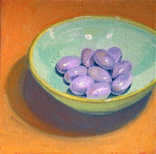 Purple Easter Eggs by Liza Hirst