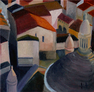 Perigueux from above by Liza Hirst