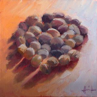 Last Harvest of Walnuts by Liza Hirst