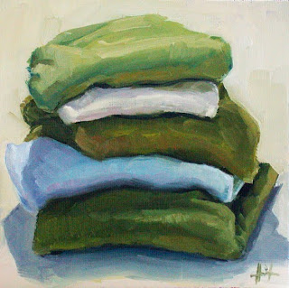 My Things, Pile of Pullovers by Liza Hirst