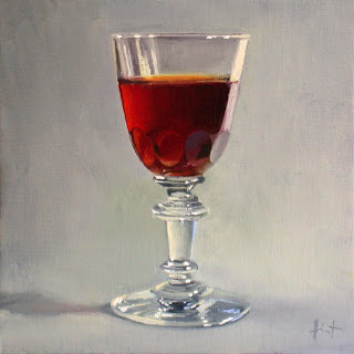 My Things, Antique Sherry Glass by Liza Hirst