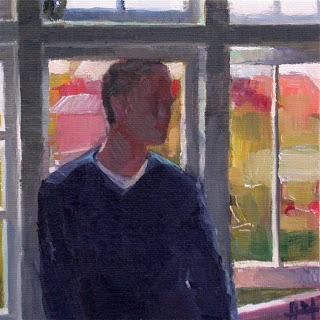 At the Window by Liza Hirst