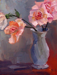 Pinky Roses by Liza Hirst