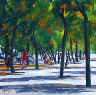 Summer in Barcelona by Liza Hirst