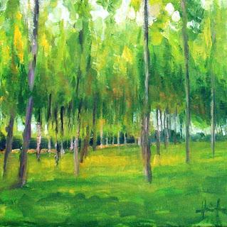 Poplars II by Liza Hirst