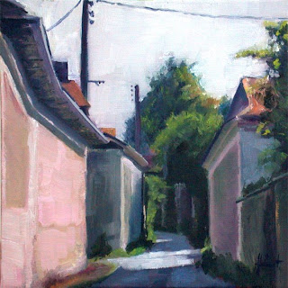 Village Road by Liza Hirst