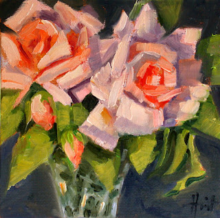 Roses with Buds by Liza Hirst