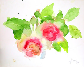 Pierre de Ronsard watercolour by Liza Hirst