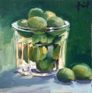 Prunes Reine Claude by Liza Hirst