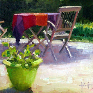 Coloured Tablecloth by Liza Hirst