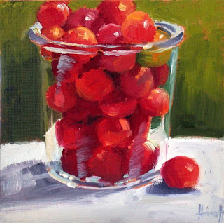 Wild Red Plums by Liza Hirst