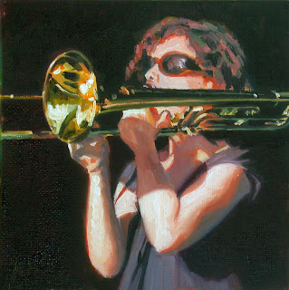 Trombone in the sun by Liza Hirst