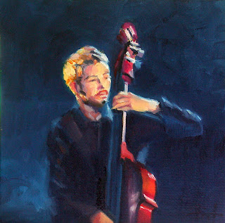 The Double Bass Player by Liza Hirst