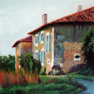 Houses in Chignac by Liza Hirst