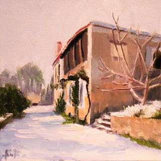 Snow in France by Liza Hirst