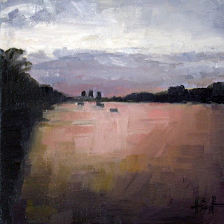 Evening on the Thames by Liza Hirst