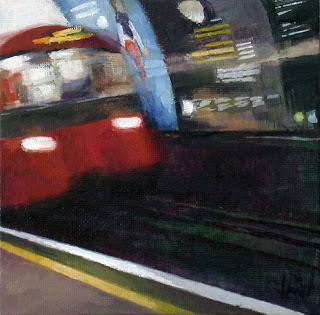The Tube Arrives by Liza Hirst