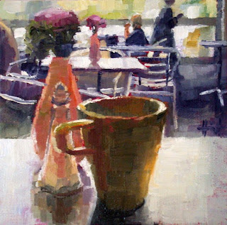 Coffee in Battersea Park by Liza Hirst