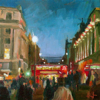 Twilight at Picadilly Circus by Liza Hirst