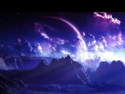 Blue World Beautiful Desktop Background