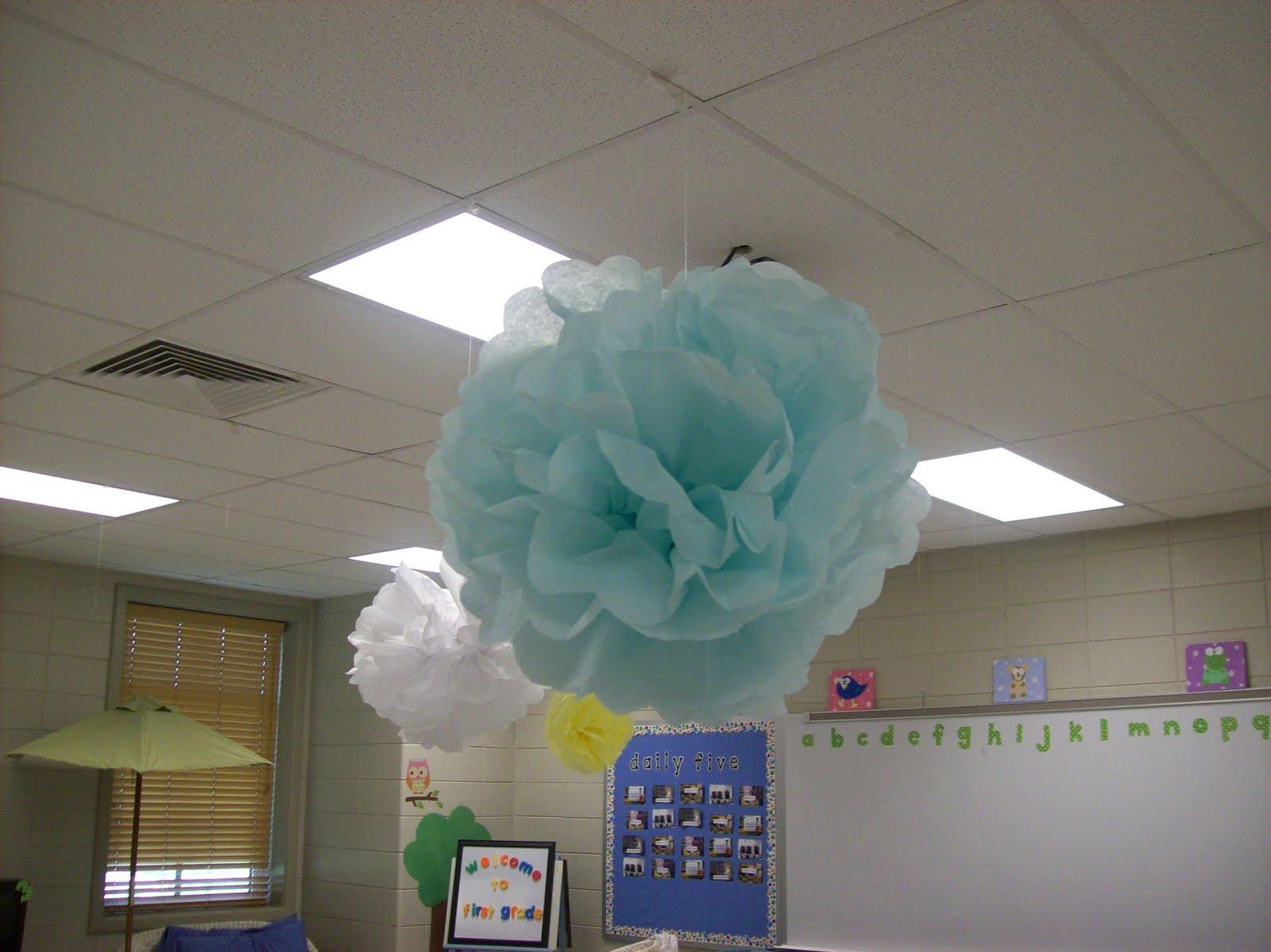 First Grader Last Whimsical Giant Tissue Paper Flowers