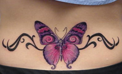 butterfly tattoo on back body njeleret