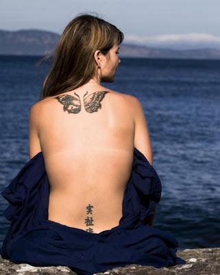 Bikini Butterfly Tattoo art