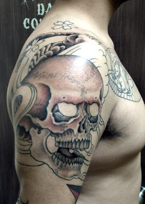 Skull Tattoo Stylish - Shoulder Tattoo Art.