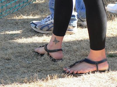 butterfly tattoos on legs