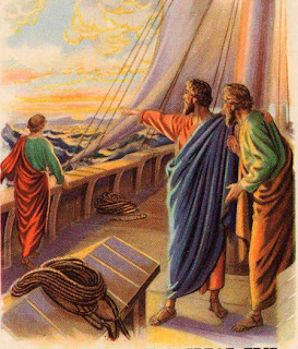 Saul and Barnabas on the ship - Artist unknown
