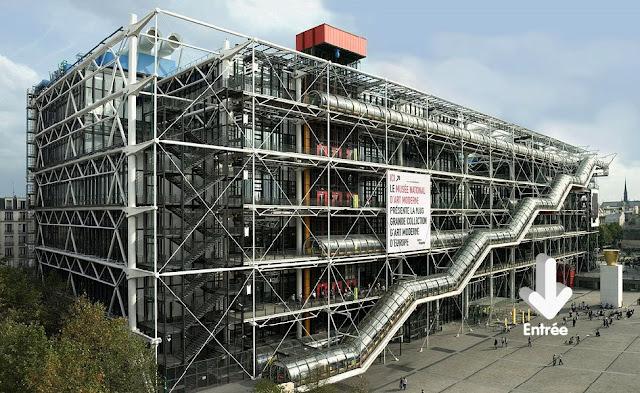 Le centre pompidou modern design by - Centre george pompidou architecture ...
