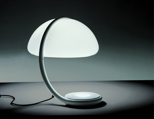 Elio martinelli serpente lamp modern design by moderndesign the serpente lamp is available as a table lamp and also in a floor lamp edition elio martinelli designed the serpente lamps in 1965 mozeypictures Choice Image