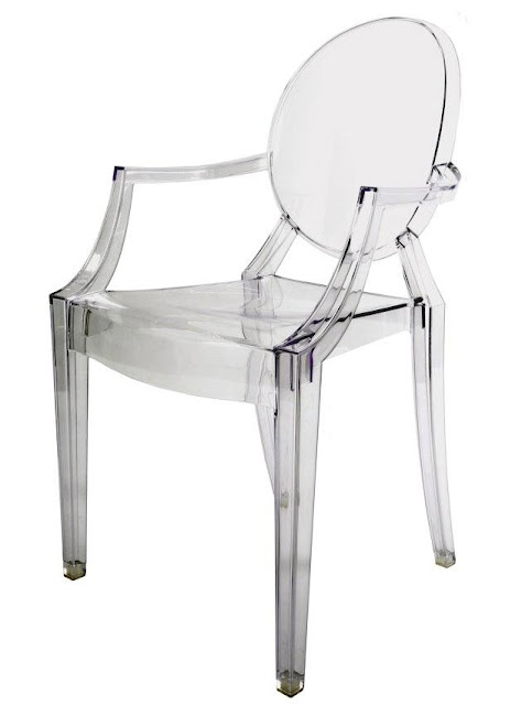 Kartell louis ghost chair philippe starck modern design for Chaise ghost kartell