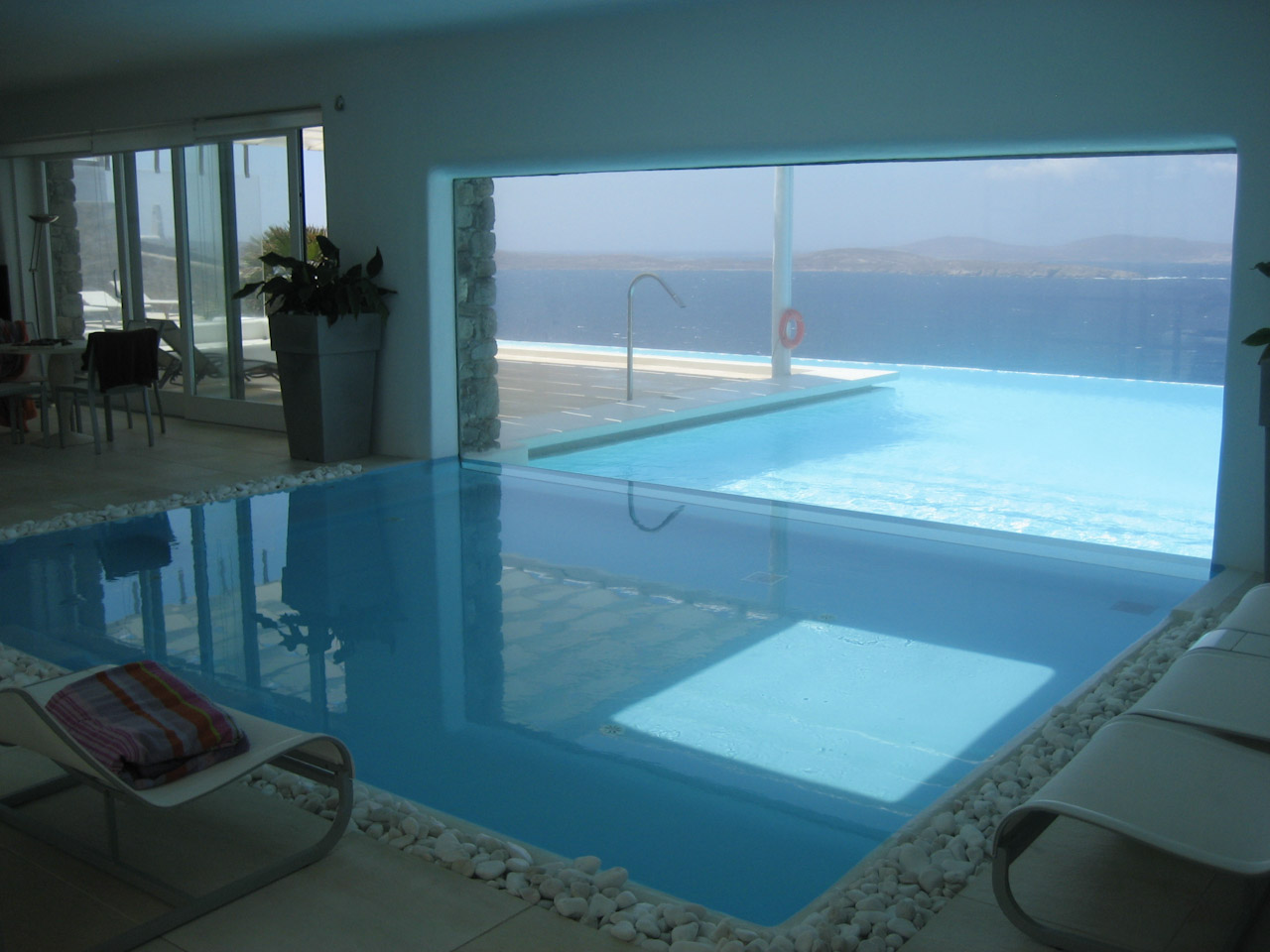 Connecting Indoor And Outdoor Swimming Pool