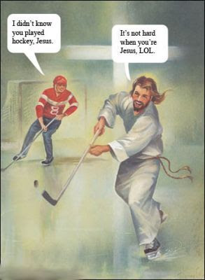 Jesus hockey