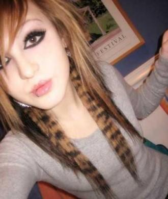 Coon Stripe Hair