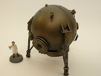 pulp steampunk Victorian science fiction terrain mad science time travel chronosphere 25-28 mm