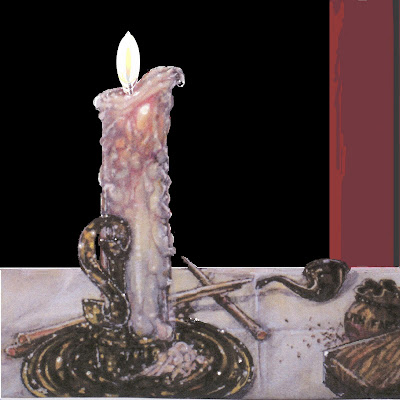Paintings ----- A New Work A New Day -----   quot A Witness in the DarkDripping Candle Drawing