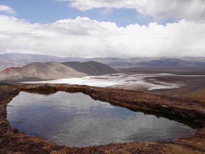 Pileton de agua termal, Vega Las Botijuelas