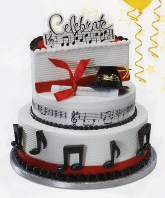 Cake Decoration Music : Kindergarten Graduation Cake Ideas: Musical Cake Recipe