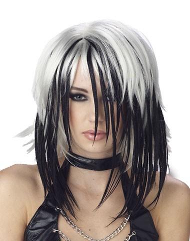 simple hair style black white