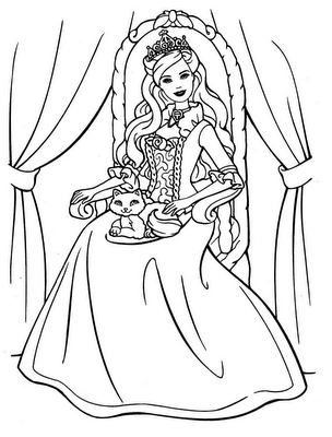 Barbie Princess Coloring Pages